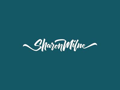 Sharon Milne Lettering Logo wordmark brush brand identity personal branding logo typography type design type calligraphy lettering