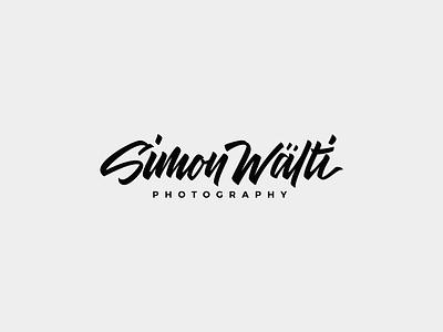 Simon Waelti Logo signature photographer photography wordmark brush calligraphy lettering personal brand branding identity logo