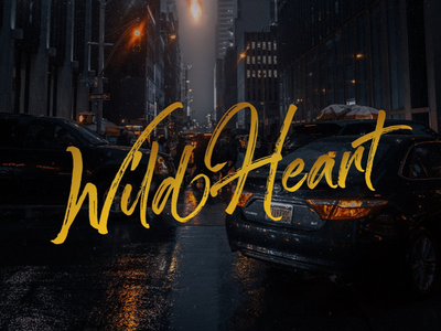 Wild Heart Brush Calligraphy titling poster heart wild marker lettering calligraphy brush