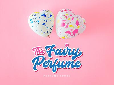 Fairy Perfume Lettering Logo calligraphy brush lettering brand branding logo