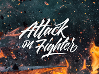 Attack on fighter Lettering