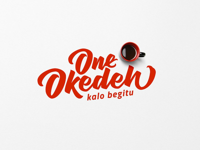 Okedeh Lettering poster quote titling calligraphy brush calligraphy brush lettering logo