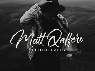 Matt Qaffero Brush Calligraphy Logo brush calligraphy lettering personal brand branding logo