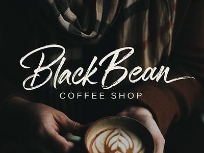 Black Bean Brush Calligraphy Logo brush calligraphy lettering brand branding identity logo