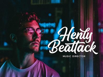 Henly Beattack Lettering Logo wordmark brush lettering calligraphy personal brand branding identity logo