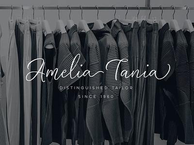 Amelia Calligraphy Logo wordmark brush calligraphy lettering personal brand branding identity logo