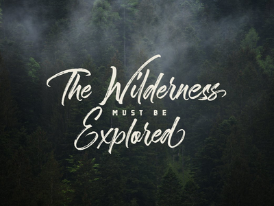 The Wilderness Hand Brush Calligraphy marker design wilderness wild poster calligraphy brush lettering quote