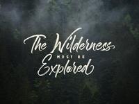 The Wilderness Hand Brush Calligraphy