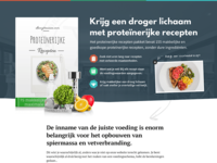 Landing Page for Recipe Book