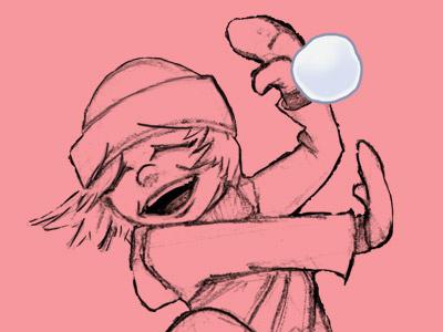 Lola Snowball illustration girl snowball cartoon comic character