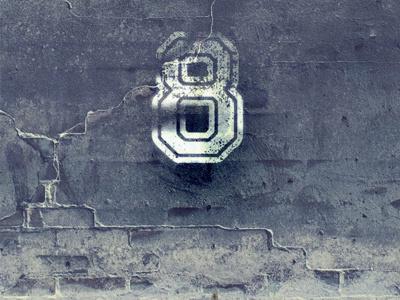 [Illustration] 8 days wall days 8 illustration graphic grunge