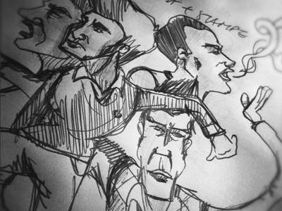 [Pencil] Sketch #1 pencil paper draw illustration sketch people