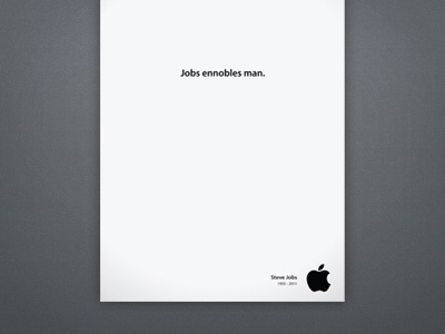 [AD] Jobs Ennobles Man ad adv jobs apple campaign