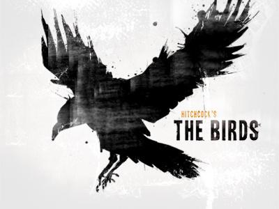 [Poster Design] Hitchcock's The Birds hitchcock birds poster design illustration