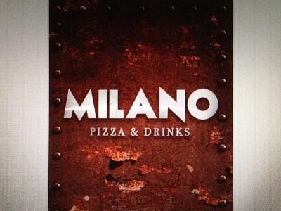 MILANO Pizza & Drinks - Next opening [Poster]  milano pizza drink next opening restaurant graphic poster work progress