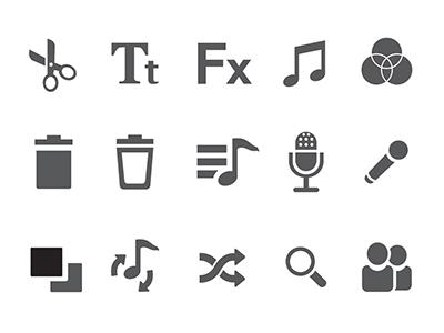 Reeli monochrome icons  icons