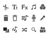 Reeli monochrome icons
