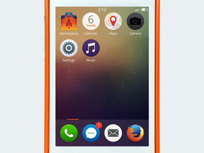 Firefox OS Home Screen Redesign firefox os mobile flat
