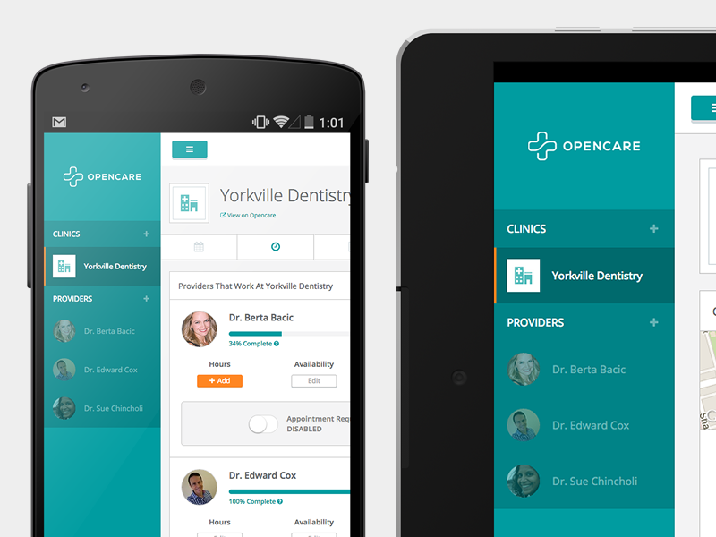 Opencare For Clinics ui ux design health doctor clinic healthcare
