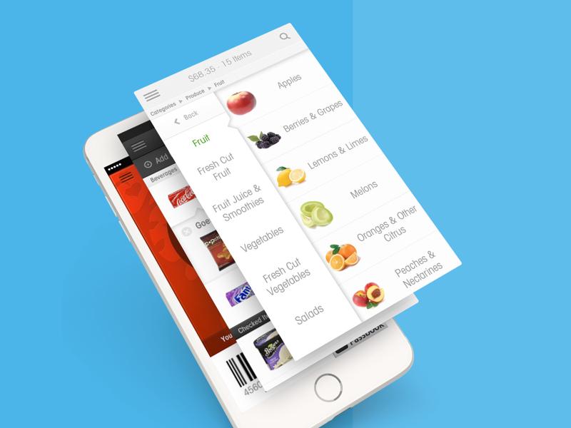 Unata design clean analytics grocery mobile app ios flat white iphone ui