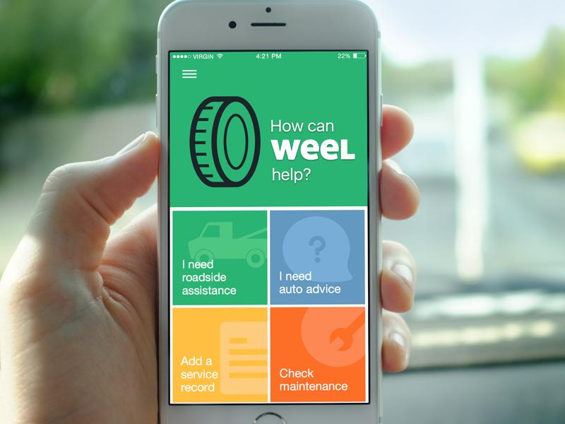 Weel design clean mobile app ios flat white iphone ui