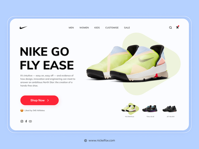 Nike Go Landing Page clean ui minimal shoes typography trend interaction design design branding home page website visual design landing page nike ui ux colour
