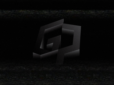Sinking or emerging? logo design sinking emerging minimal black white grey glitch gradient twitter