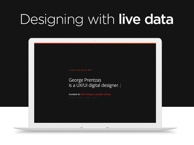 Designing with Live Data designer github xiaomi mi band digital web design live data google fit ui ux