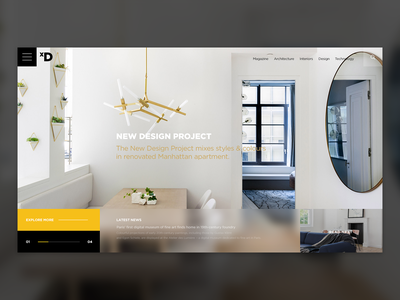 Interior Design Magazine ix ui experience minimal website new york web design interior design uiux