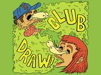 Club/Draw Sticker Desgin