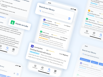 Advanced Search - Mobile ux ui results result library card library cloud cloudacademy android ios application app mobile app mobile ui mobile search results search engine search bar searching search