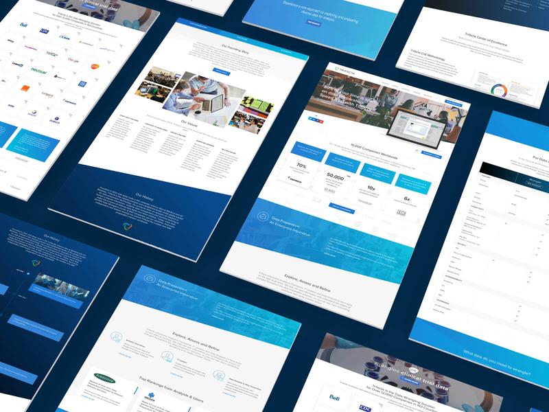 Trifacta website, UI design trifacta ui light angles blue clean design website design website