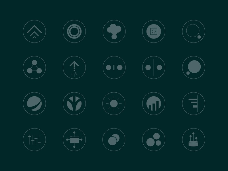 DataCore Icons clean simple design modern data core data simple dark vector iconography icon set icons