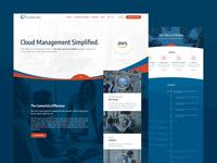 Connectria website, UI design