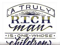 A Truly Rich Man...