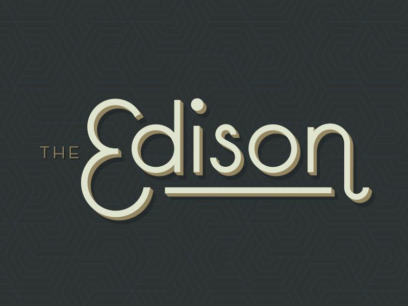 Edison Custom Type custom logo vintage drop shadow shadow logotype typography art deco