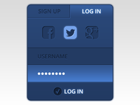 Login Widget UI