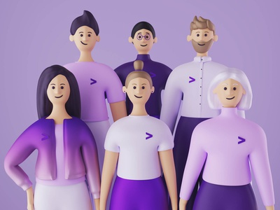 Accenture Characters advertising character 3d illustration design branding