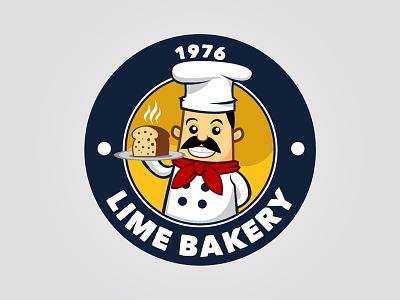 Bakery Logo vector character mascot bakery logo
