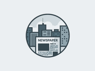 City Newspaper vector newspaper city