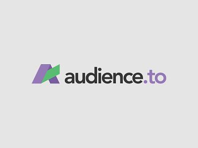 Audience.to Logo app audience branding marketing logo design logo