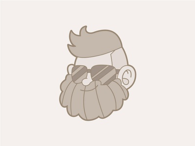 Men Grow Beard avatar beards beard face character design illustrator mascot vector