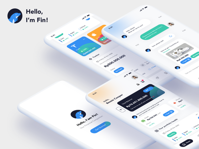 Fin - Your Financial Companion goals budgeting tracker investment financial advisor financial services financial widget dolphin finance app design mobile app design user interface ios ux ui product design