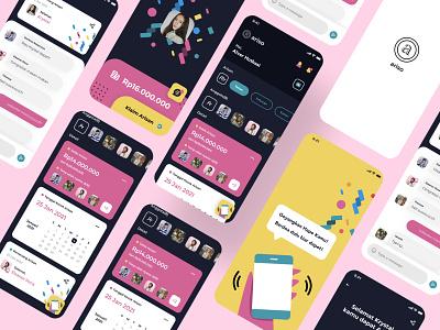 Ariso - Arisan Online social media icon user experience arisan illustration mobile app design user interface design ios ux ui product design