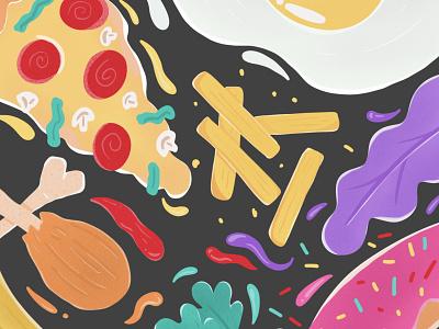 Eat! eat food illustration food app food product design illustration