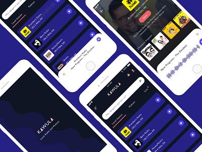 Kawula - Local Radio & Podcast user center design podcast radio podcast app radio app ios mobile app design user experience user interface design ux ui product design