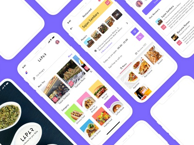 Lapar food and beverage hungry user experience restaurant app restaurant food food app design mobile app design ios user interface ux ui product design