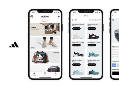 Adidas Concept App mobile app design ux ui product design ios ecommerce shoes app shoes fashion app adidas