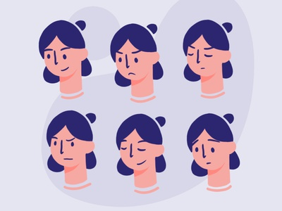 Expressions expression facial expressions woman people face illustration