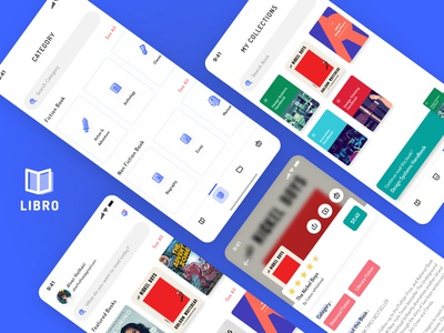 Libro iconography mobile app design bookshop bookstore books ios ux ui product design